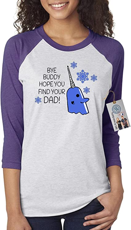 Custom Apparel R Us Elf Narwal Buddy Find Your Dad Mens Short Sleeve