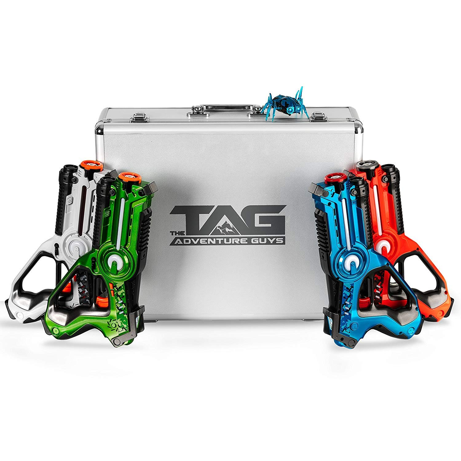 The Adventure Guys Deluxe Edition Lazer Tag Gun Set with Designer Case and BitsyBot - Premium Lazer Tag for The Whole Family! by The Adventure Guys