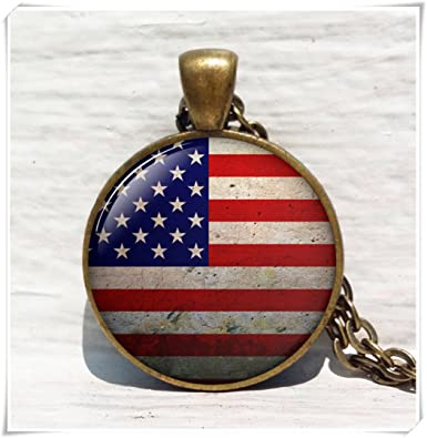 Amazon american flag pendant necklace bronze pendant american flag pendant necklace bronze pendant patriotic jewelry american flag jewelry us aloadofball Choice Image