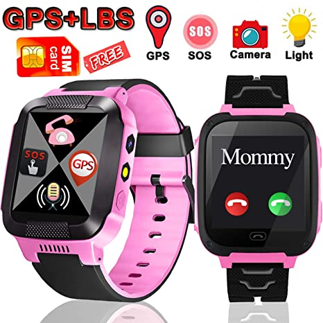 Kids Smart Watch Phone With SIM CardSmart For Girls Boys Make Calls And