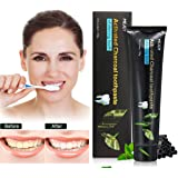 Teeth Whitening Toothpaste Y.F.M. 120g Activated Charcoal Tooth Whitening, Oral Care Bamboo Charcoal Black Whitening Toothpaste, Naturally Eliminates Bad Breath and Coffee Stains