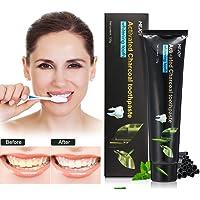 Bambuskohle schwarze Zahnpasta, Luckyfine Holzkohle natürliche weiße Zähne Zahn schützen Aufhellen frischer Atem Bleeching