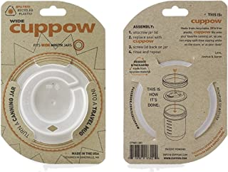 product image for Original Cuppow Wide with Straw-Tek - Drinking Lid for Wide Mouth Canning Jar!