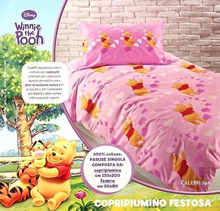 Copripiumino Winnie The Pooh.Caleffi Parure Copripiumino Una Piazza Disney Winnie The Pooh