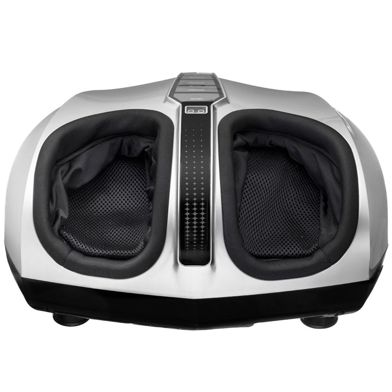 Belmint Shiatsu Foot Massager with Switchable Heat Function, Delivers Deep-Kneading Massage Relief for Tired Muscles and Plantar Fasciitis, (Silver)