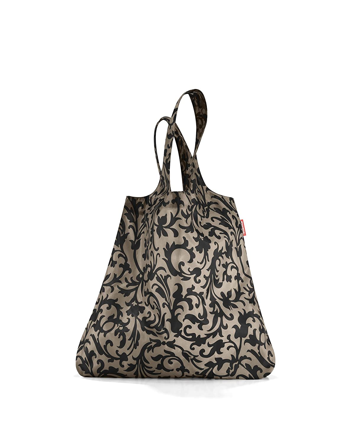 Baroque Taupe reisenthel Mini Maxi Shopper Foldable Reusable Shopping Tote with Elastic Band