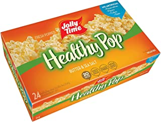 product image for JOLLY TIME Healthy Pop Butter 94% Fat Free Microwave Popcorn, Bulk 24-Count Box (2 Pack (24ct))