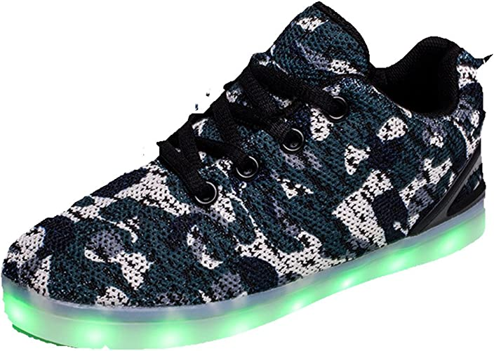 Blue 9 M US Toddler Hanglin Trade Boy and Girls Low Top Led Sneakers Light Up Flashing Shoes