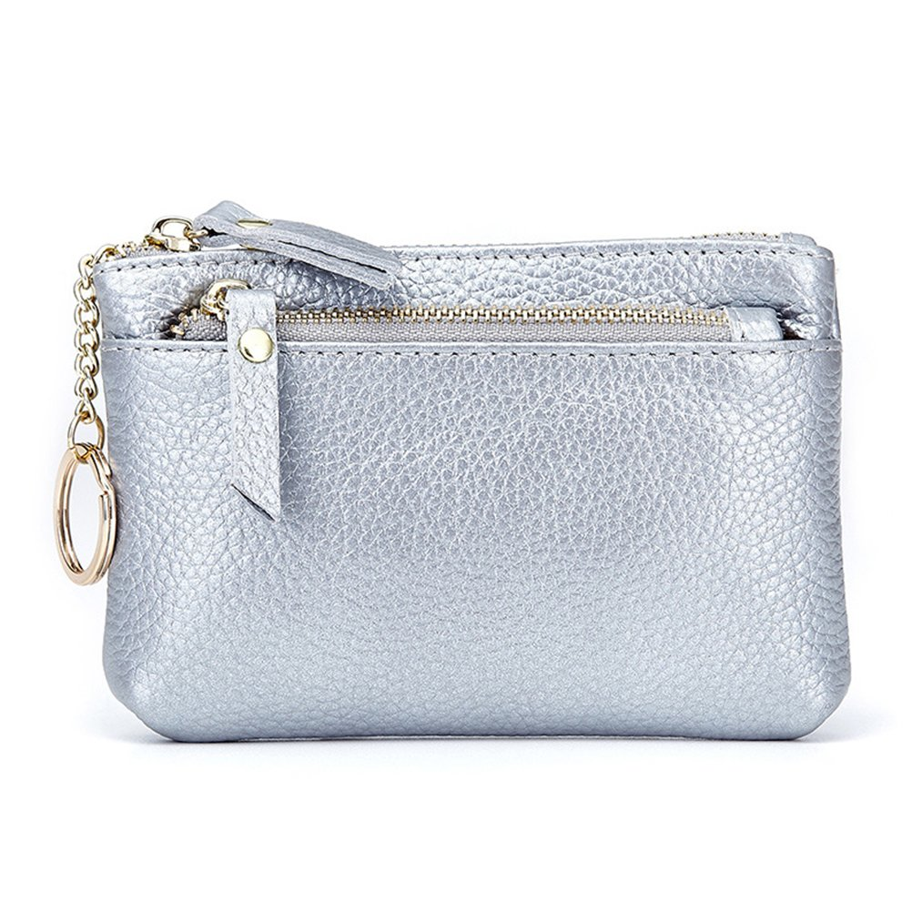Wallet for Women Fmeida Coin Purse Pouch Leather Zipper Change Holder (Grey) 016