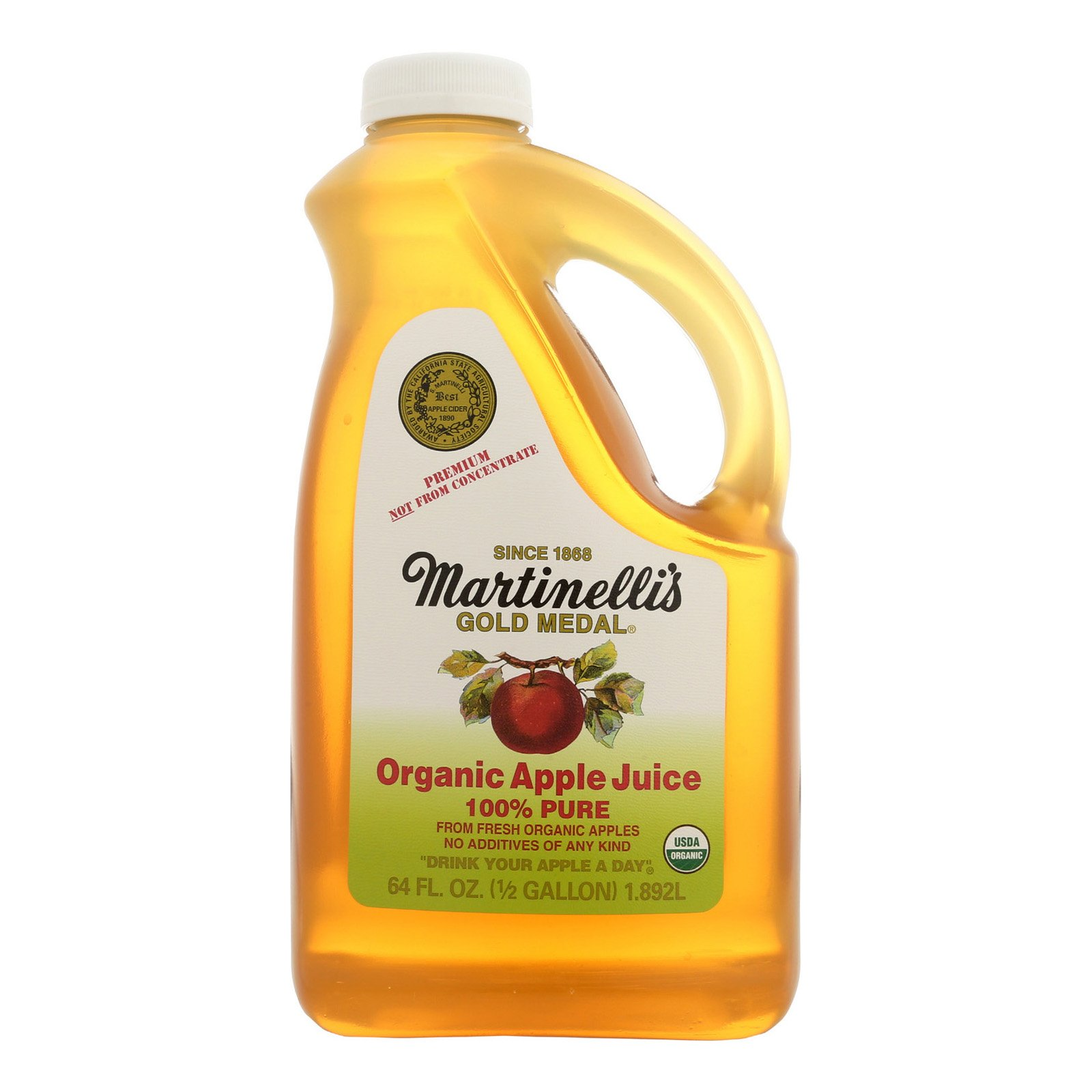Martinelli's Organic Apple Juice - Case of 6 - 64 Fl oz.