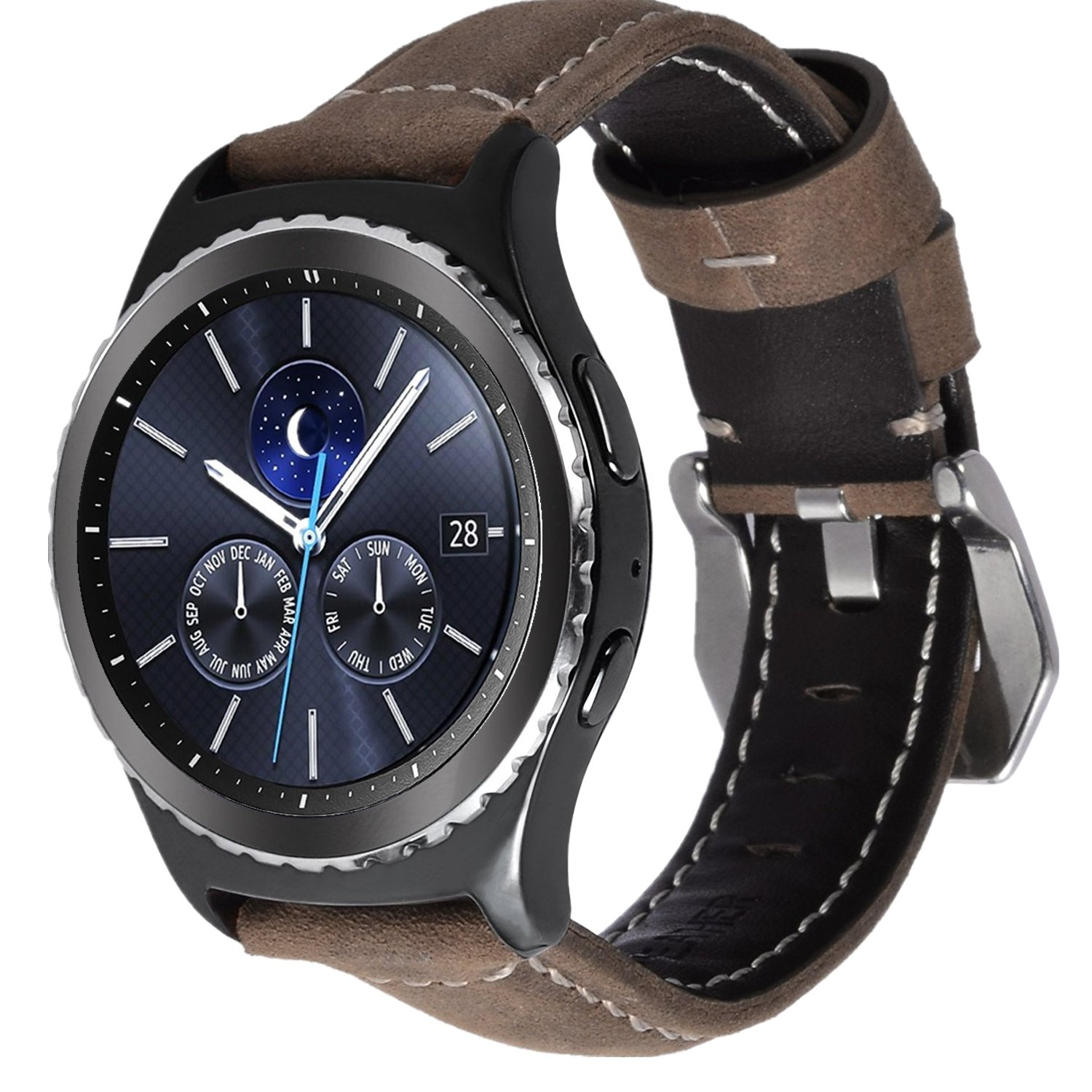 Amazon.com: Lwsengme 20mm&22mm Quick Release Watch Leather ...