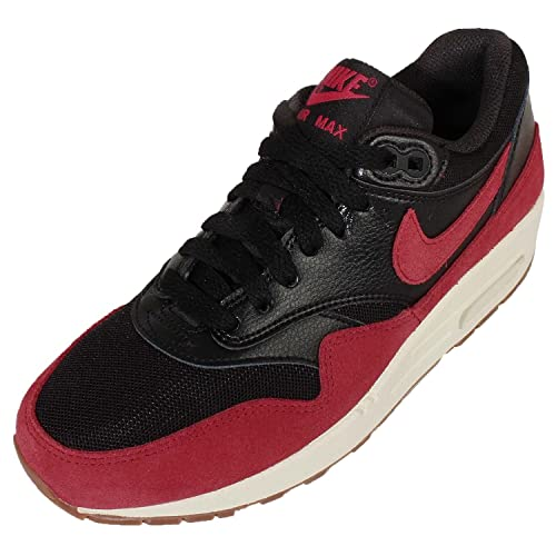 the best attitude ec938 52491 Nike Women s Air Max 1 Essential Black Gym Red Sail Gm Md Brown Running Shoe  6.5 Women US  Amazon.co.uk  Shoes   Bags