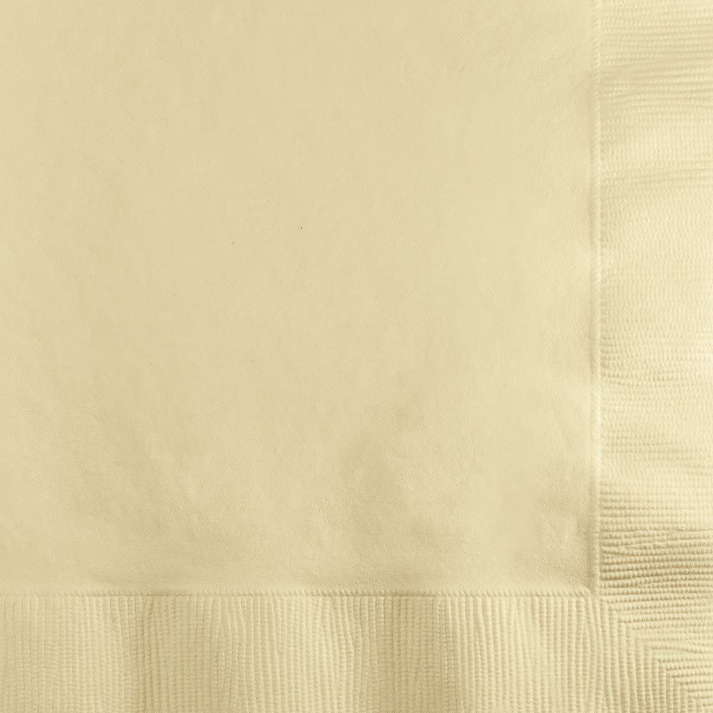 Touch of Color Paper Beverage Napkins, Ivory, 200-Count