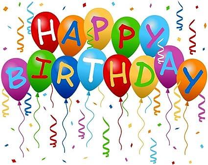 Schwarz Wei/ß Luftballons Silber Happy Birthday Hintergrund Foto Fotografie Banner f/ür M/änner Frauen Geburtstag Jubil/äum Party Dekoration 72,8 x 43,3 Zoll Happy Birthday Hintergrund Banner