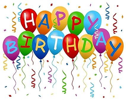 Feliz cumpleaños globos Digital niños telón de fondo para ...