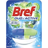 Bref Duo Active Brazilian Lime and Mint, Rim Block Toilet Cleaner, 50ml, Lime, Mint