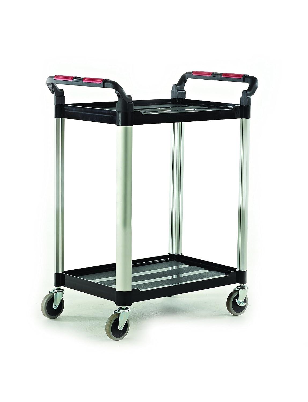 Proplaz 2 Shelf Utility 100 kg Capacity Practical Panda HI275Y Workshop Trolley 750 mm L