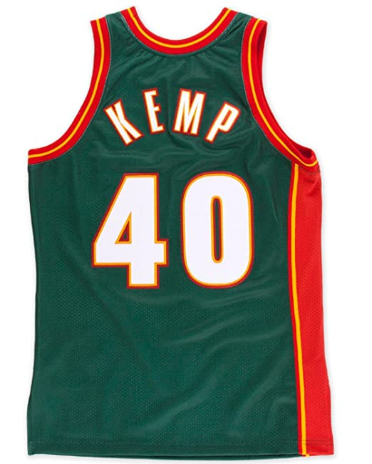 Amazon.com   Shawn Kemp Seattle Supersonics Mitchell   Ness Authentic 1995  Road NBA Jersey   Sports   Outdoors 6b69248e7