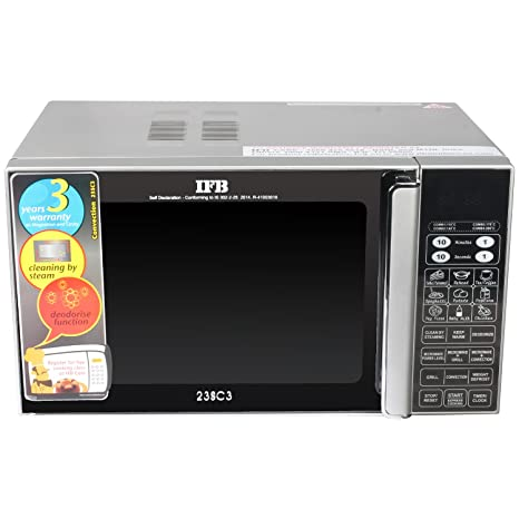 ifb 23 l convection microwave oven ifb 23sc3 metallic silver rh amazon in ifb microwave oven 25sc2 user manual ifb microwave oven 23sc3 user manual
