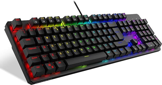Tecware RGB PHANTOM teclados y accesorios (Reino Unido 105 Brown QWERTY)