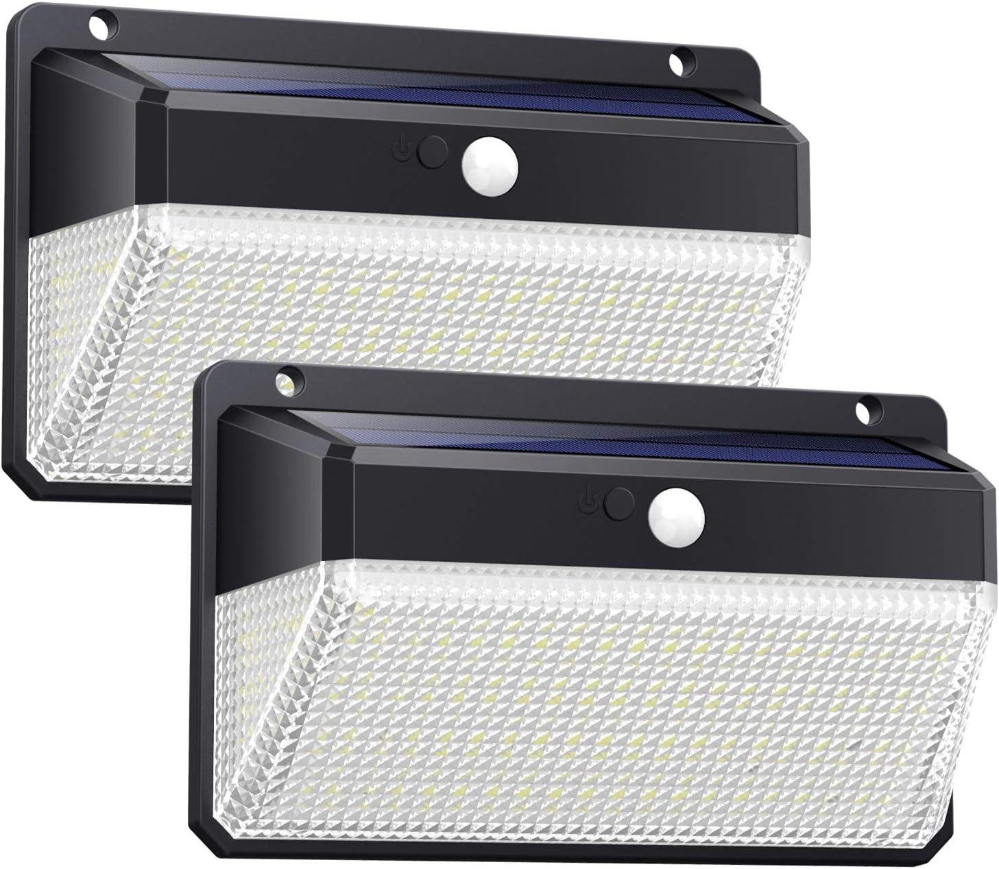 Ekrist Luz Solar Exterior 328 LED Luces Solares【3000lm-más Brillante & Amplio Iluminación】Foco Solar Exterior con Sensor de Movimiento 2500mAh 3 Modos