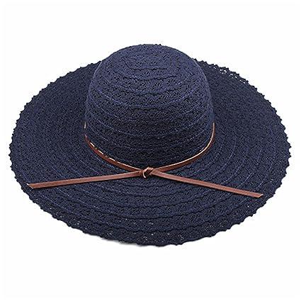 WY-scarf Sombrero de Visera de Verano con diseño de Bufanda ... da0e3875e15