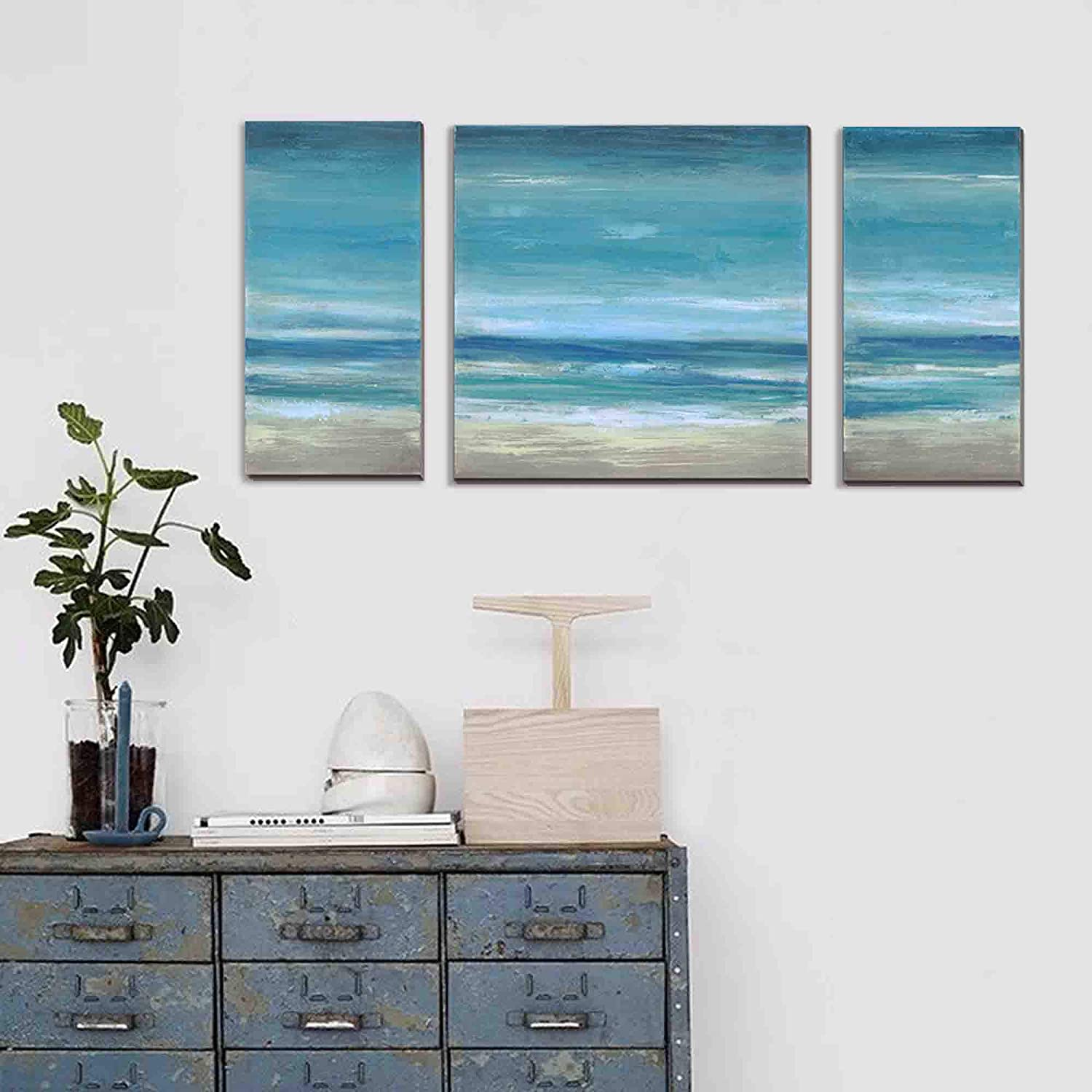 Ocean Wall Art Abstract Beach Pictures
