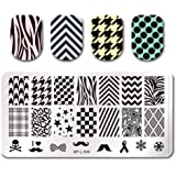 Born Pretty Nail Art Stamping Plates Selected Classic Image Plate Nail Stamp Stamp Template BP-L006