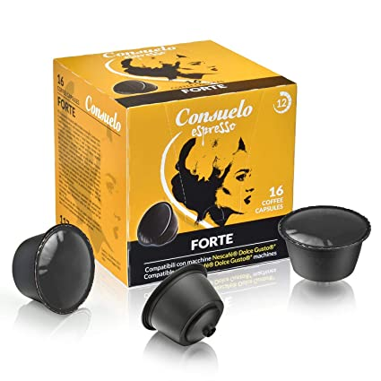 Consuelo - cápsulas de café compatibles con Dolce Gusto* - Forte, 32 cápsulas (16x2): Amazon.es: Alimentación y bebidas