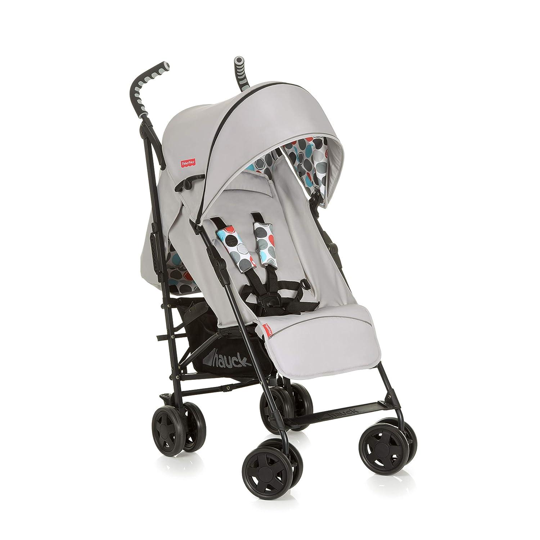 Hauck Fisher Price Go-Guardian Palma Stroller Small Folding Size Ergonomic Handles Practical Sun Canopy, Gumball Grey