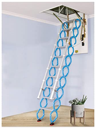 Invisible Loft Ladder Alloy Hole Retractable Folding Attic Stairs Pull Down Ceiling Ladder Hinges 6 56 Ft 13 12ft Hole 23 6251 18inch Height 7 54 Ft Amazon In Home Improvement