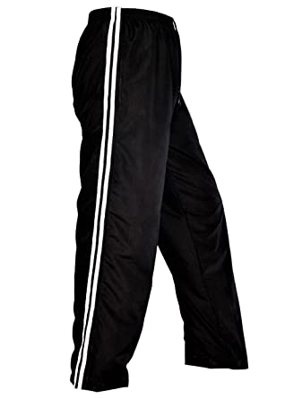 867fd36fcd11 Sterling Smart® Two Stripe Mens Tracksuit Bottoms Mesh Lining Silky Casual  Gym Jogging Joggers Sweat Pants White Navy Black Colour Size Small Medium  Large ...