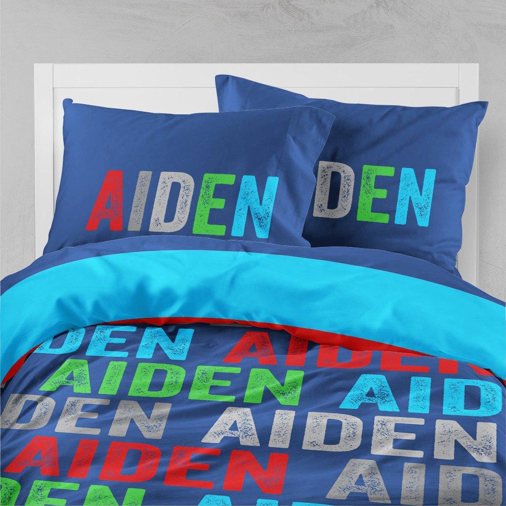 Personalized Bedding Custom Bedspread Boys Bold Name
