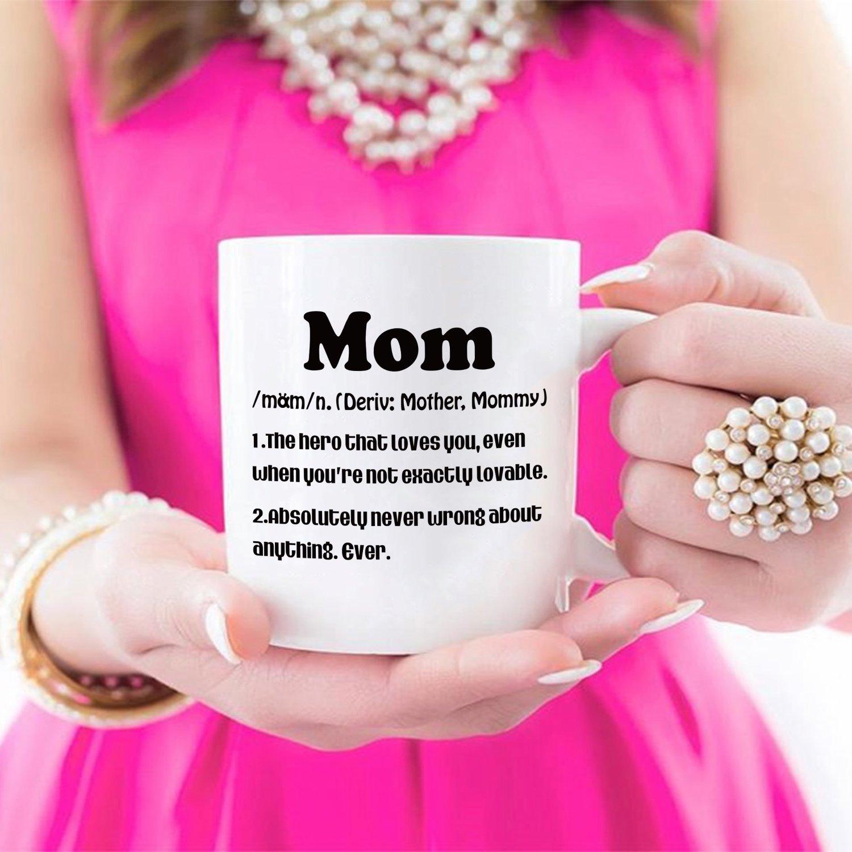 Amazoncom Mothers Day Gifts Mom Definition Funny Coffee Mug, Christmas