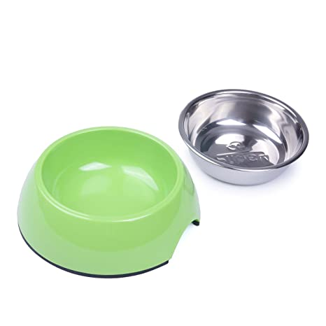 Dishes, Feeders & Fountains Cat Supplies Lovely Super Design Dog Cat Bowls Melamine Stand Stainless Steel Bowls For Small Medium Pretty And Colorful