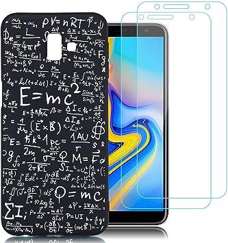 jrester Funda Samsung Galaxy J6 Plus,Fórmula matemática Suavee Silicona Smartphone Cascara Protectora para Samsung Galaxy J6 Plus (6,0
