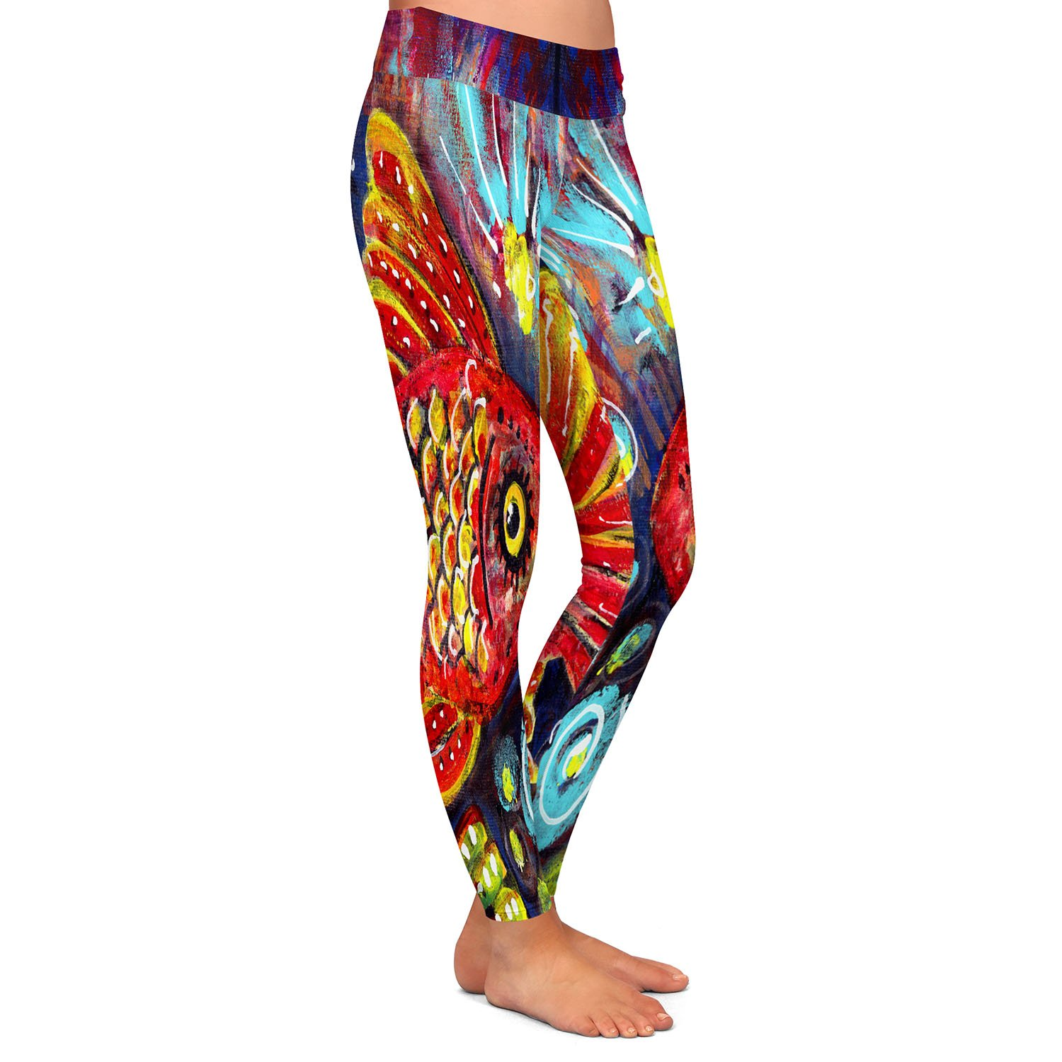 Athletic Yoga Leggings from DiaNoche Designs by Ann Marie Cheung Bubbles