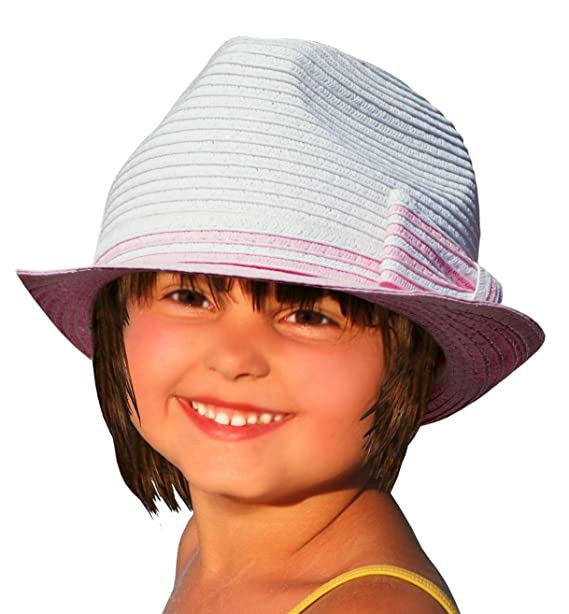 f3862a853d2eb Amazon.com  BePe Baby Fedora Hat - Off White Pink with Bow  Clothing