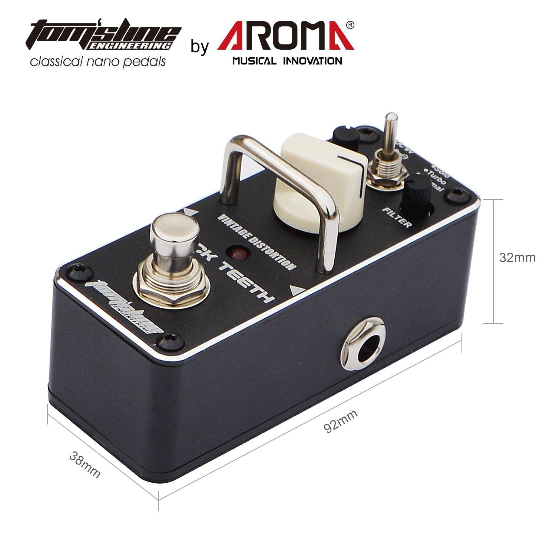 ... distorsión BLACK TEETH ABT-3 Sonido de distorsión vintage de ancho amplio y cálido basado en 3 versiones de Proco Rat - solo turbo y pedal de guitarra ...
