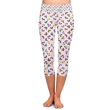 Señoras Pantalones Capri Moda Orejas De Ratón De Disney Yoga ...