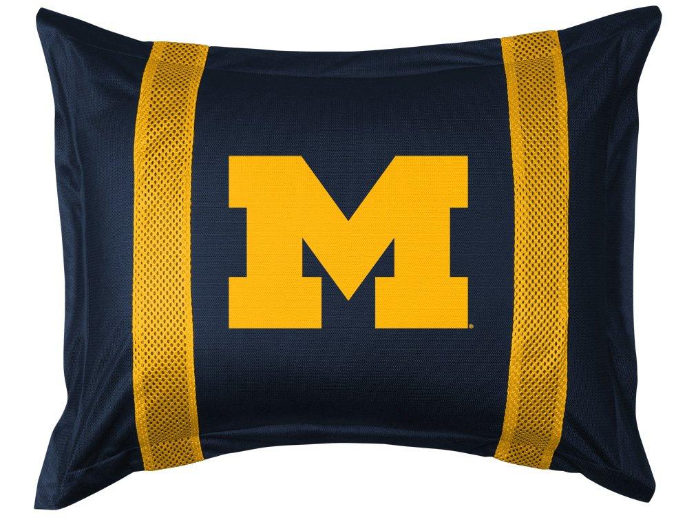 Michigan Wolverines FULL Size 9 Pc Bedding Set (Comforter, Sheet Set, 2 Pillow Cases, 2 Shams, Bedskirt & Matching Wall Hanging) - SAVE BIG ON BUNDLING!