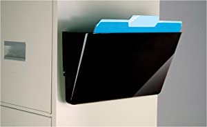 Officemate Magnetic Wall File Letter Size, Black (21452)