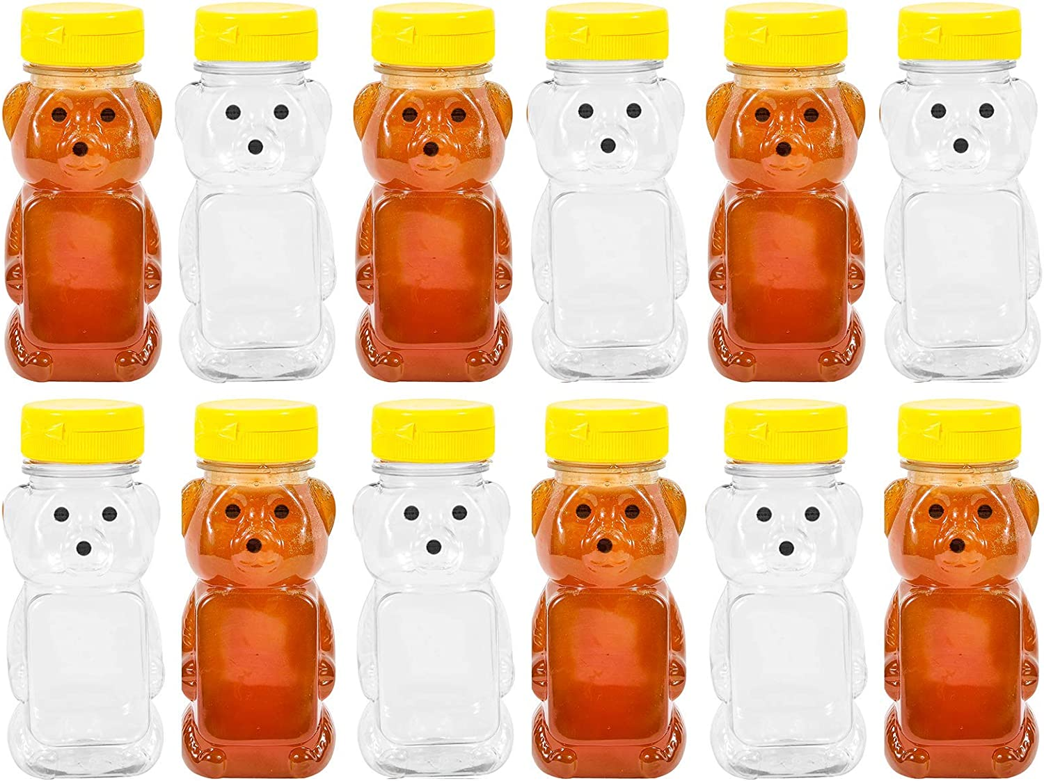 Amazon.com: PLASTIC 8 OZ BEAR SQUEEZE HONEY BOTTLE EMPTY WITH ...