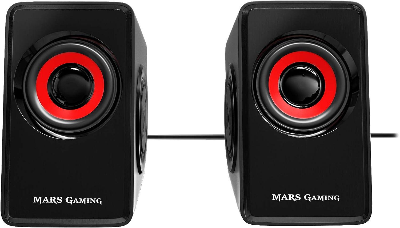Mars Gaming MS1, altavoces 10W, subwoofer, Jack 3.5mm, Pc/Mac/smartphone/tablet
