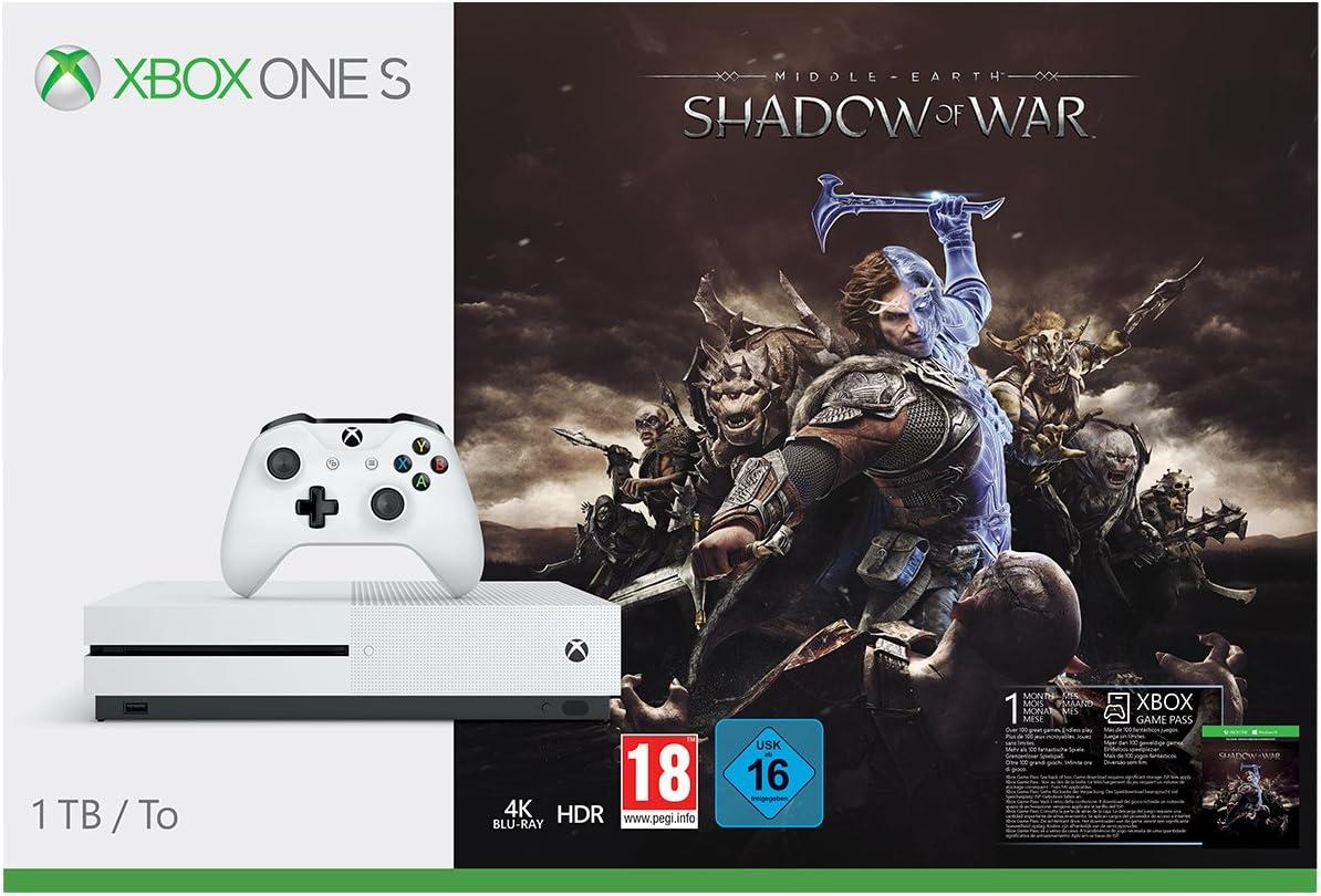 Xbox One S - Consola 1 TB + Sombras De Guerra + Game Pass (1M ...