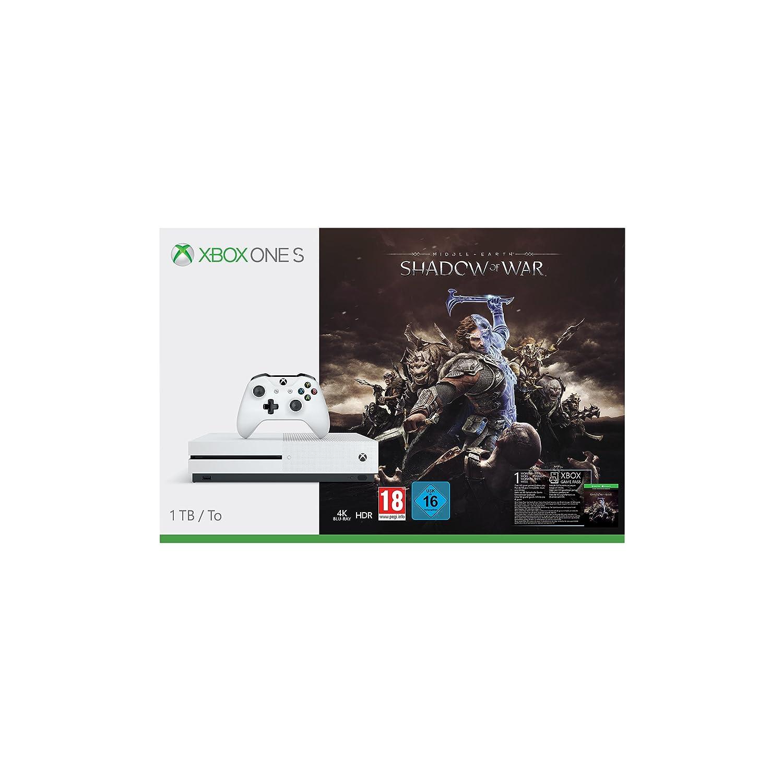 Xbox One S - Consola 1 TB + Sombras De Guerra + Game Pass ...