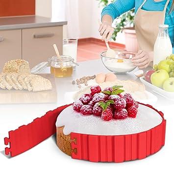 Kuchenformen Mopoin Silikon Backform Bake Snake Tortenring