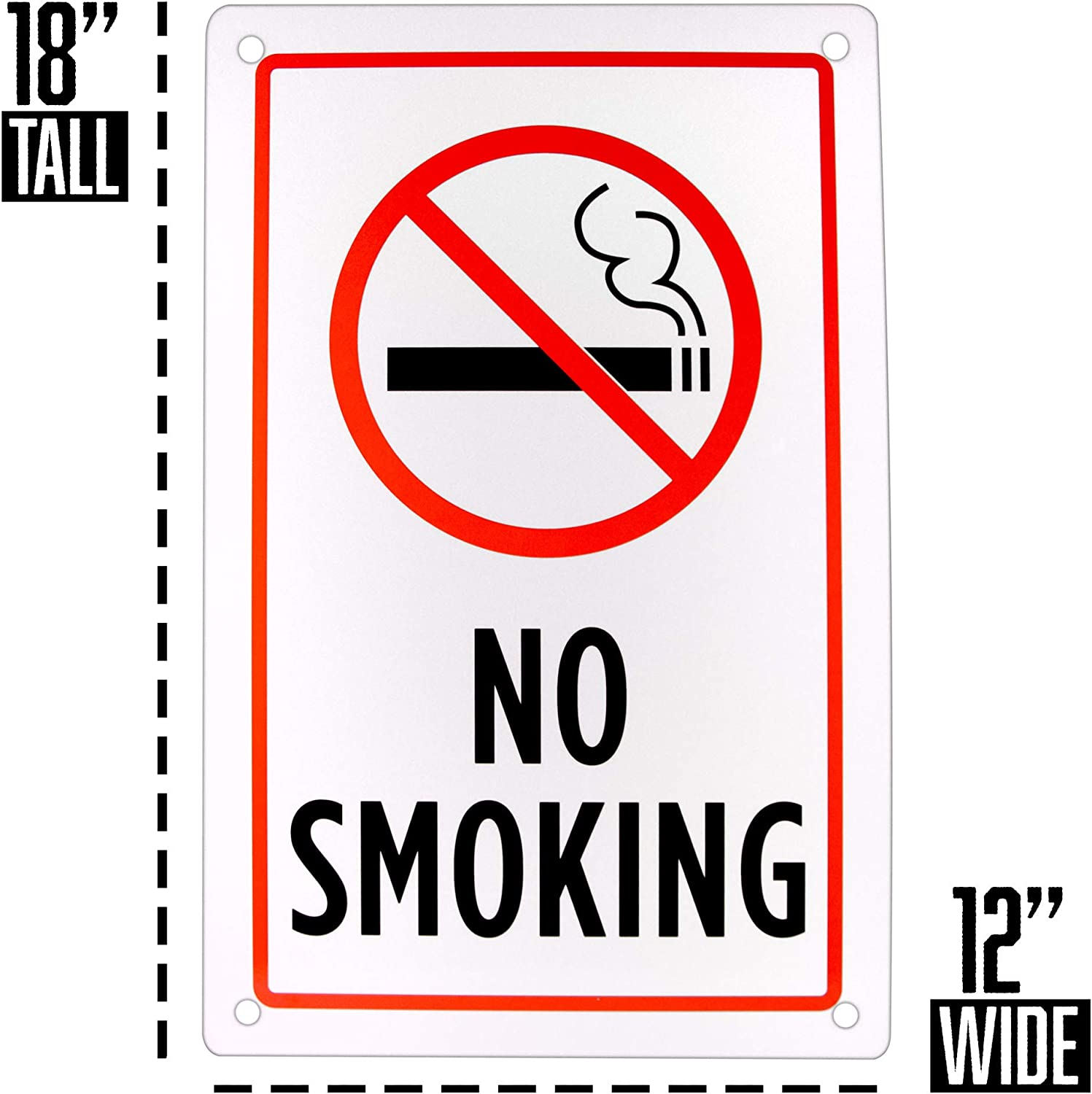 """NO SMOKING SIGN,DAYCARE SIGN,9/""""x12/"""" ALUMINUM SIGN,SAFETY,CHILDREN-3325"""