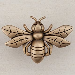 product image for Acorn Manufacturing DQ7GP Artisan Collection Bee Knob44; Museum Gold