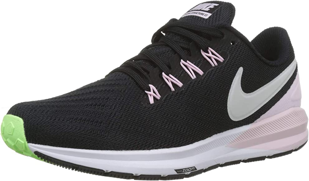 Nike W Air Zoom Structure 22, Zapatillas de Running para Mujer, Negro (Black/Vapste Grey/Pink Foam/Lime Blast 004), 38 EU: Amazon.es: Zapatos y complementos